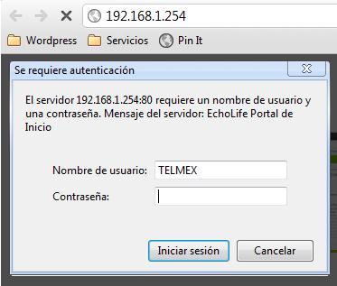 configurar Modem Telmex