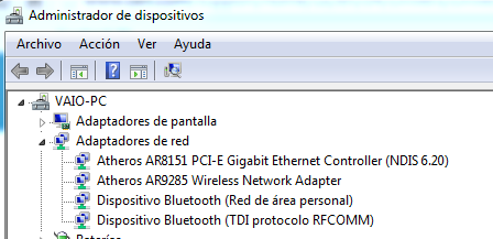 Atheros Dispositivos AR8151