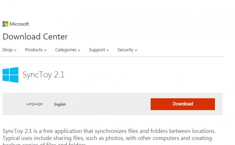 SyncToy 2.1 de Microsoft